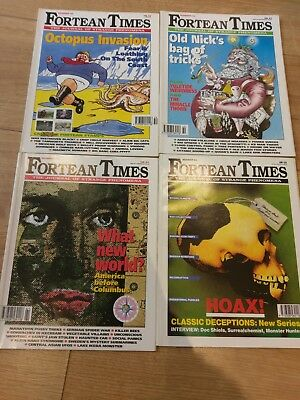 Fortean Times issues 59,60,61 and 62. Rare Classics