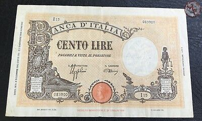 Italy 100 Lire 1942 Pick # 59-- Big size banknote