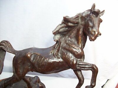 "Ken Payne ""Lord of the Mustang"" 16""x 9""  1984  Bronze Statute! Excellent! COA"