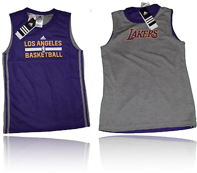 Adidas NBA LA Lakers Kinder Kids Trikot Short 2in1 Wendetrikot Wendehose Gr. 164