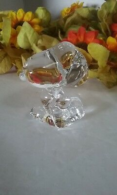 Crystal Glass Peanuts Snoopy Figurine with a Briefcase by Metlife