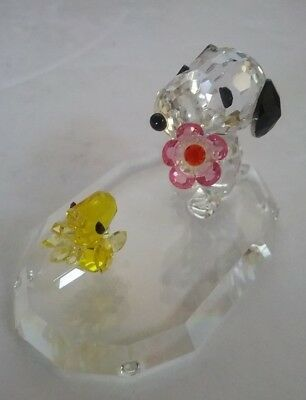 Crystal World Snoopy and Woodstock Peanuts Figurine Limited Edition PS003