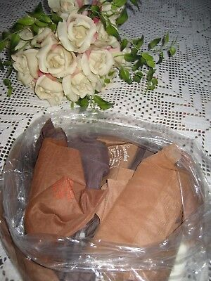 Vintage Ladies New Seamless  Stockings Nos  Size 9-11 Mix Shades 16 Pair In Lot