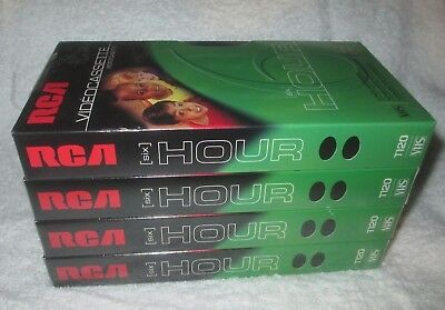 4 PACK RCA 6 HOUR T-120 Standard Grade Blank VHS Tapes video NEW FACTORY SEALED