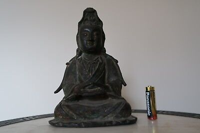 Ming or Qing Heavy Bronze Figure of Guanyin Goddess of Mercy SUPERB PROVENANCE
