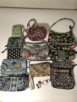 Large Lot 12 Vera Bradley Crosbody Bag Jewelry Box Wallets Assorted Prints Color