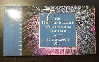 2000 The United States Millennium Coinage And Currency Set - Original Packaging