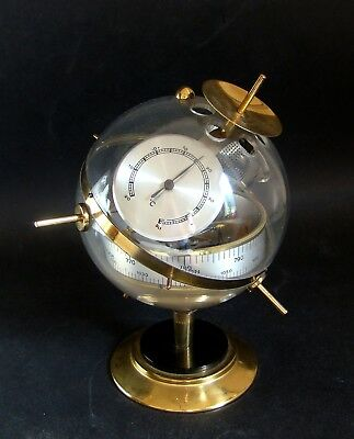 SPUTNIK Wetterstation Hygrometer Messing Eames Ära Space Age 60er TOP & RARE