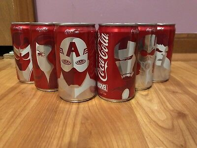 Marvel Avengers Mini Coca Cola Collector Cans