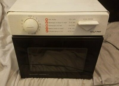 Sharp Compact Microwave Oven Half Pint R 1m53 Carousel Ii Cube Dorm Camper Home
