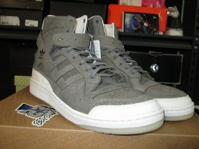 watch 6aee0 24d2e New Adidas Forum High Crafted Charles F Stead Grey White Gold Bw1253 Sz 12