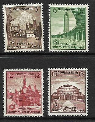 GERMANY THIRD REICH 1938 16th GERMAN SPORTS TOURNAMENT  SG 653-56 SET 4 MLH