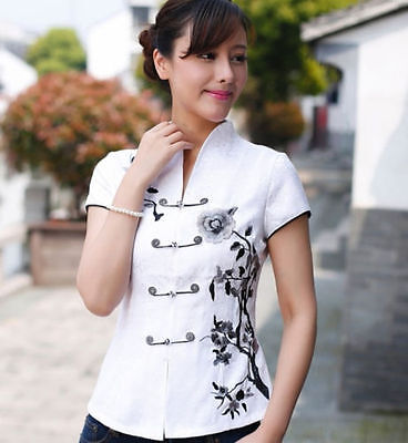 74f6bcb6c366a ... TRADITIONAL CHINESE WOMEN S cotton white top Dress T shirt blouse