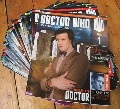 Doctor Dr Who Figure Collection Magazine Only Bundle Huge Job Lot 105 Issues