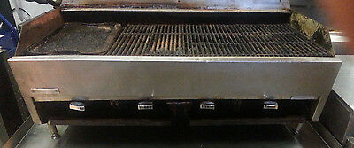 "Rankin Delux Charbroiler - Lava Rock - 48"" - Gas - SOLD AS IS"