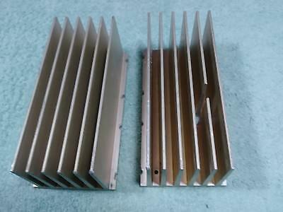 "2 (PAIR) LARGE GE INDUSTRIAL SUPER HEAVY DUTY ALUMINUM HEAT SINK 6.5""x3""X2.5"""