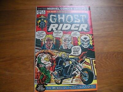 Ghost Rider #6 Johnny Blaze Strong Copy 9.0 OW pgs. Marvel Stamp Intact,  Zodiac