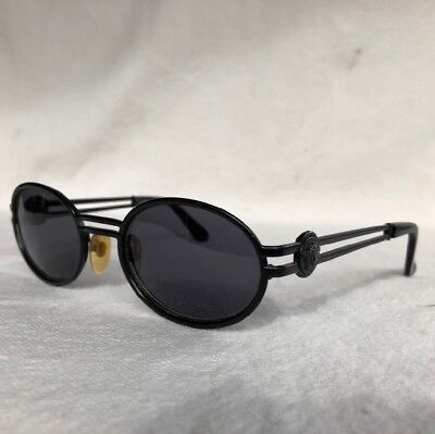 0767f1b3d1e 12  Vintage VERSACE Sunglasses Medusa Frames Made in Italy Black Metal S41