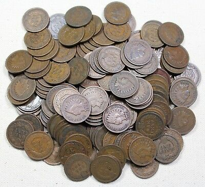 Lot Of 150(3 Rolls) Average Circulated Indian Head Cents