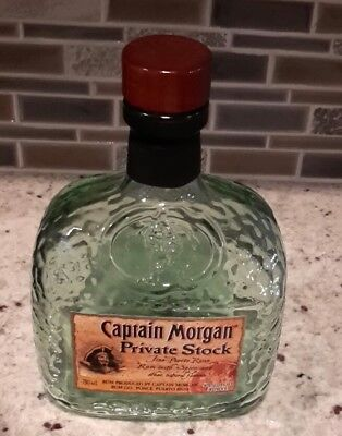 Vintage Captain Morgan Private Stock  glass bottle