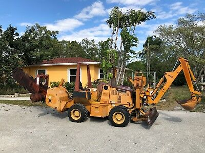 Case 460 Trencher With Backhoe