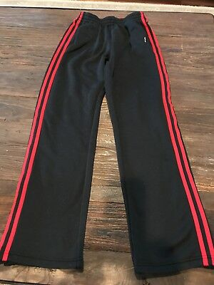 Youth ADIDAS CLIMALITE Black/Red Sweat Pants. Warm and awesome! Large (14-16)