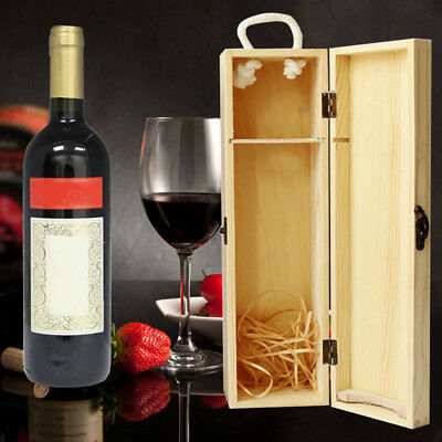 Natural Wooden Dual Wine Box Space Bottle Carrier Case Valentines Xmas Present