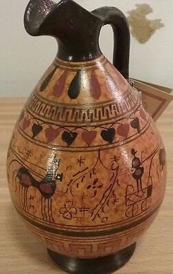 Hand-Painted Copy of 700 B.C Style Greek Vase--Made in Greece