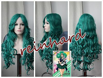 SAILOR MOON -Sailor Neptune cosplay anime Wig-Dark Green Curls