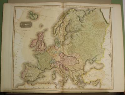 European Continent 1817 John Thomson Antique Original Copper Engraved Map