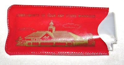 Vintage 1960's A&P Grocery Store Promo Give Away Plastic Rain Scarf