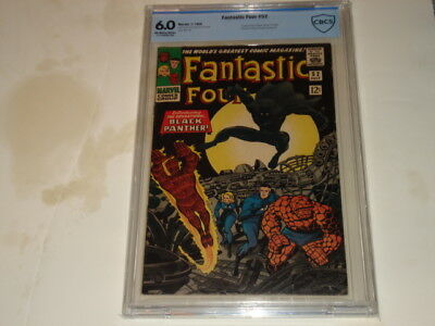 Fantastic Four #52 CBCS 6.0 OW/W Pages. First Black Panther Now a Hit Movie