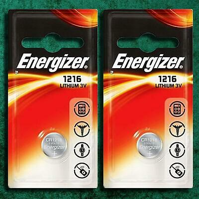 Energizer CR1216 Lithium Batteries Coin Cell 3V Battery DL BR 1216 Long EXPIRY