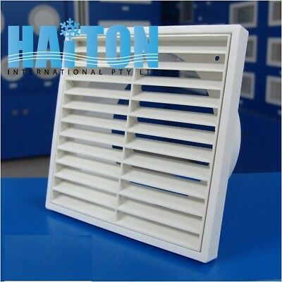 125mm Spigot Ducting White Wall Extractor Fan Ventilation Fixed Louvre Grille