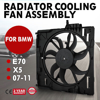FIT BMW E70 X5 07-11 NEW Engine Radiator Cooling Motor Fan Assembly 17427598740