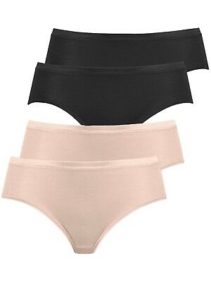 Pack of 4 Women's Brief Knickers with Micromodal 2142 Naturana S-4XL Div Colours