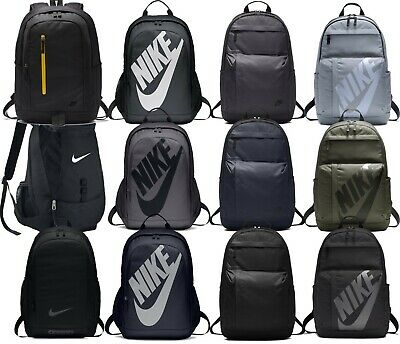 Nike Men Unisex Backpack Rucksack Bag Black Sportswear 2018 Gym Travel Kids Grey
