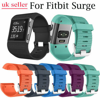 UK Replacement Strap Band for Fitbit Surge Watch Tracker Wristband Silicone L/S
