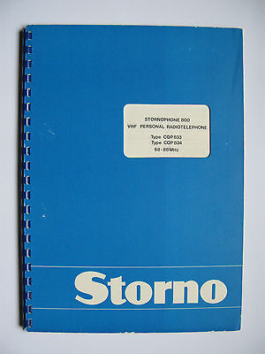 Storno CQP830 - Stornophone 800 Service Manual - 4m VHF Low Band - english