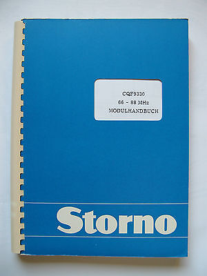 Storno CQF9330 Service Manual B II  Stornophone 9000 Publication No:8323.9930-00