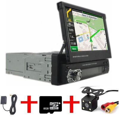 "1 Din 7"" Car Mp5 Spieler AUTORADIO MIT GPS NAVIGATION NAVI BLUETOOTH Frei KAMERA"