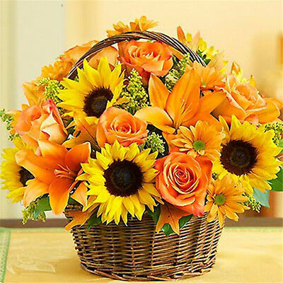 A basket of sunflowers diamond painting cross stitch nice flower home decor UK