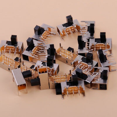 20Pcs 6mm 0.5A 50VAC High Side Knob 6 Pin 2 Position DPDT Slide Switch SK22H03