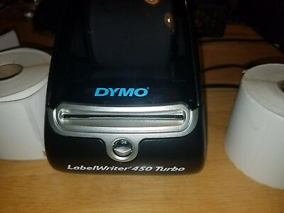 Dymo Labelwriter 450 Turbo with cables and labels
