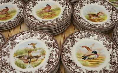 Spode Plates Woodlands Collectable Earthenware Dining Dinner Luncheon Wildlife