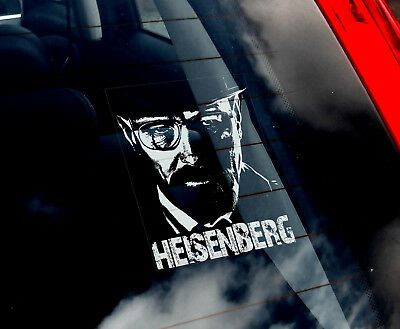 Heisenberg - Car Window Sticker - Walter White Breaking Bad Decal Sign - V05