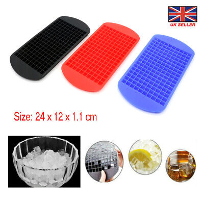 UK Stock !!! Silicone 160 Cavity Mini Square Ice Cube Tray DIY Maker Mold Mould