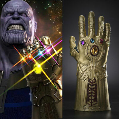 Avengers Infinity War Thanos Gauntlet Cosplay Latex Glove Halloween Prop