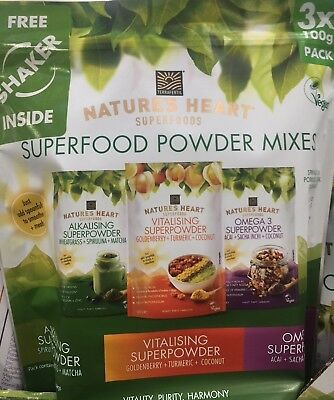 Natures Heart Superfood Powder Mixes 3x 100gm Pack by Terrafertil. Best Price