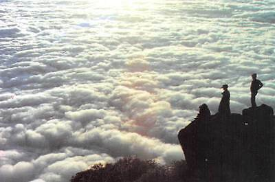 China The Sea of Clouds as seen from the Golden Summit